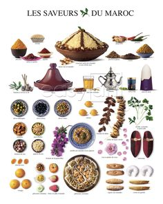 The wonders of Moroccan cuisine; food, specialties and eating habits - – with recipes! Part 1 Morrocan Food, Moroccan Art, Moroccan Design, Moroccan Spices, Moroccan Pattern, Mini Van, Pesto Recipe, Arabic Food, Eating Habits