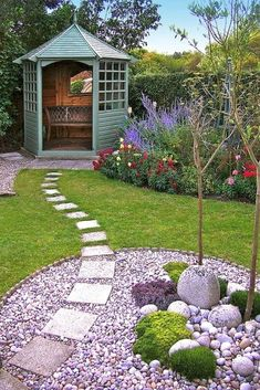 Beautiful backyard landscaping ideas that include simple and elegant or bold and spectacular centerpieces make your surroundings look interesting and unique. Beautiful backyards and gorgeous…MoreMore #LandscapingIdeas