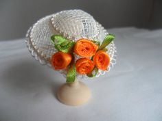 1/12th miniature dolls house handmade hat. by HATSofftoMINIATURE, £7.00
