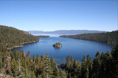 Emerald Bay Lake Tahoe.  What about the smell of crystal clear mountain air and a pristine lake surrounded by trees.  Take me away!