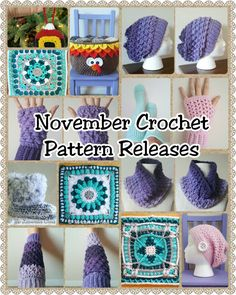 November Crochet Pattern Releases - Free Crochet Patterns - The Lavender Chair