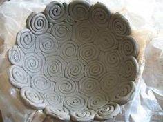 clay swirls bowl