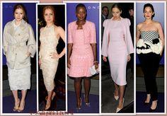 Amy Adams, Lupita Nyong'o, Suki Waterhouse y Ruth Wilson en la fiesta de los nominados a los BAFTA 2014