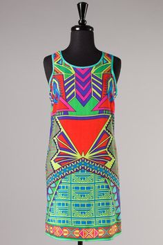 Abstract print tank dress   Retail Therapy Auctions - FREE SHIPPING - retailtherapyauctions
