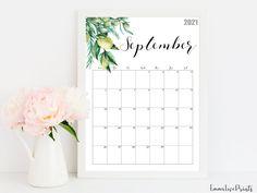 2021 Calendar Watercolour Calendar 2021 Botanical Wall   Etsy 2021 Calendar, Wall Calendars, Floral Wall, Watercolour, Printables, Artwork, Prints, Etsy, Calendar Printable
