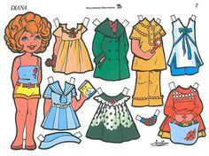 Bonecas de Papel: Coleção Diana