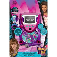 "Shake It Up Karaoke System.two birds with one stone on this one - - ""Karaoke Machine + Shake It Up Stuff"". Karaoke System, Song Lyrics, Birthday Wishes, Shake, Musicals, Singing, Have Fun, Songs"