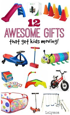 Gifts that Promote Gross Motor Skills for Kids, Awesome Gifts that Get Kids Moving and active! Happy kids are healthy kids and these fun toy ideas can help get your kids moving, staying healthy a. Gross Motor Activities, Gross Motor Skills, Learning Activities, Activities For Kids, Physical Activities, Christmas Activities, Therapy Activities, Kids Learning, Educational Christmas Gifts