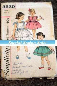 Rare find from the 50s - Simplicity sewing pattern #supplies @EtsyMktgTool #vintagepattern #vintagesimplicity #simplicity3530 #50spattern