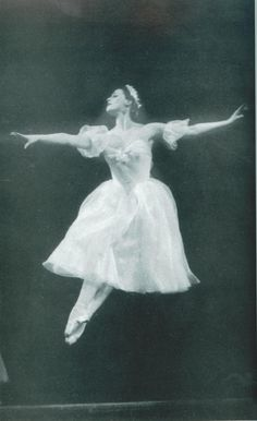 Maya Plisetskaya as Myrtha in Giselle, 1956 ph. scanned from I, Maya Plisetskaya by Maya Plisetskaya