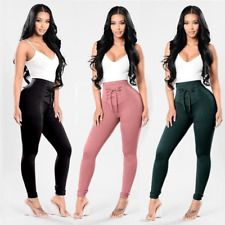 2017 Women High Waist Elastic Bodycon Leggings Jeans Denim Pant Pencil Trouser