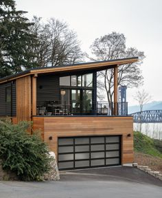 The Wriff Residence by Guggenheim Architecture + Design Studio - Photo 1 of 12 . - The Wriff Residence by Guggenheim Architecture + Design Studio – Photo 1 of 12 in The Wriff Resid - Casas Containers, Prefab Homes, Modern House Design, Modern Wood House, Wood House Design, Modern Garage, Modern Cottage, Kitchen Modern, New House Designs
