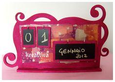 Kreattiva: Calendario perpetuo o portaposta lavagna?