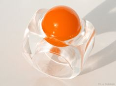 Handmade Modern Resin Ring in Orange by SOULFULSTYLE on Etsy, €32.70