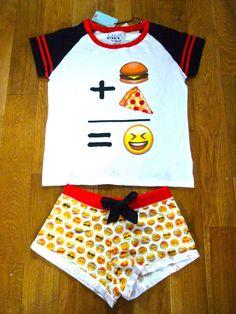 Primark Emoji Emotions iphone Smiley Faces Pyjamas Tee Top Pants Shorts 6-20 #Primark #PyjamaSetsorSeparates #Everyday