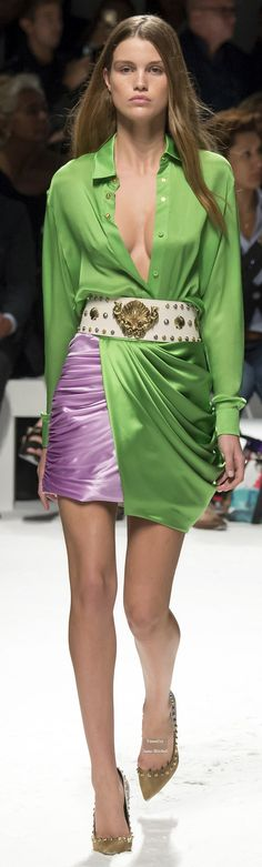 Fausto Puglisi Collection Spring 2016 Ready-to-Wear Green Fashion, Love Fashion, High Fashion, Fashion Show, Womens Fashion, Fashion Trends, Fashion Inspiration, Spring Summer Fashion, Spring 2016
