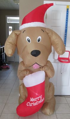 Used Home Accents Gemmy Inflatable Retriever 6 5' Working | eBay