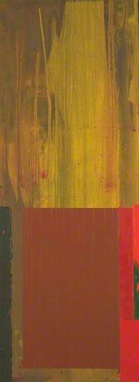 '25. 4. 69' (1969) by British painter John Hoyland (1934-2011). Acrylic on canvas, 243.8 x 91.4 cm. collection: Tate.