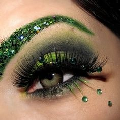 Normally not into glitter brows.  That said, I like this, and I would wear it for Halloween or a costume party.