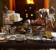 Looking for a new Halloween party theme? Get inspired to throw a Medieval dinner party.