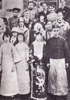 Empress Wanrong and Emperor Puyi of China