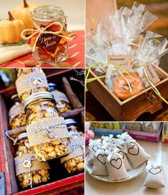 10 Incredible Wedding Details for Fall Wedding 2014 Halloween Wedding Favors, Summer Wedding Favors, Wedding Cups, Wedding Gifts For Guests, Fall Wedding Colors, Unique Wedding Favors, Autumn Wedding, Wedding Decor, Wedding Reception