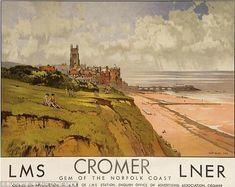 Cromer railway poster