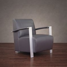 Newark Industrial Modern Dark Grey Leather Chair | Overstock™ Shopping - Great Deals on 555 Living Room Chairs