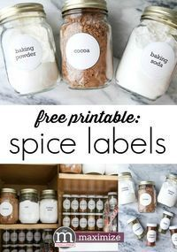 Looking for organizing ideas for seasoning mixes? Use these free printable labels for your spice cupboard or pantry. I love these simple storage solutions for small spaces and small budgets.