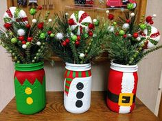 My Christmas mason jar collection! ♥️You can find Christmas mason jars and more on our website.My Christmas mason jar collection! Mason Jar Christmas Crafts, Mason Jar Crafts, Mason Jar Diy, Homemade Christmas, Diy Christmas Gifts, Christmas Projects, Holiday Crafts, Christmas Ornaments, Snow Man Mason Jar