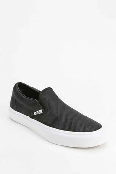 4e34cf9d9a956f Vans Perforated Leather Women s Slip-On Sneaker - Urban Outfitters Women  Slip On Sneakers