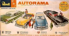Kits made by Revell US and Revell Germany and Revell Britain. Car Kits, Kit Cars, Plastic Model Kits, Plastic Models, Ford Continental, Old Models, Vintage Cars, Holland, Britain