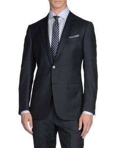 Suit in exclusive pure wool fabric with tone on tone stripes, lined 2 button model.  http://store.zegna.com/item.asp?store=ermenegildozegna=49126825NR_id=19805