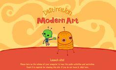 Interactive website for kids - MoMA's Destination Modern Art