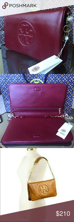 Tory Burch Bombe Reva Clutch Tory Burch NWT AUTHENTIC Bombe Reva Clutch, in red agate color Tory Burch Bags Clutches & Wristlets