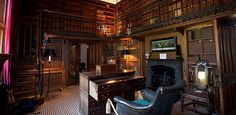 Abbotsford Scotland.  Scott's Study This is perhaps the most personal and most atmospheric room at Abbotsford, where Scott wrote some of his most famous novels.  2,000 rare books are housed in the study, books he was using to aid him in his writing at the time of his death.