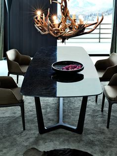RECTANGULAR MARBLE TABLE CONCORDE CONCORDE COLLECTION BY POLIFORM   DESIGN EMMANUEL GALLINA