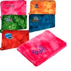 e79675eaba Tie-Dye Blanket  100% polyester pill-resistant fleece with tie-dye