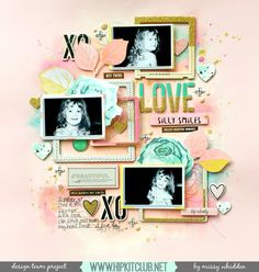 Hip Kit Club DT Project - 2016 September Hip Kits - Maggie Holmes Gather, Shimmerz Paints (also in the kits...Simple Stories Posh, Pinkfresh Studio Indigo Hills)
