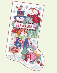 Donna Kooler's Stocking Collection Second Edition - Donna Kooler shares 14 more of her favorite cross stitch stocking designs in this sequel to her popular Ultimate Stocking Collection. Chosen from the many designs created by the talented team of artists at Kooler Design Studio--Linda Gillum, Barbara Baatz Hillman, Sandy Orton, and Nancy Rossi--this collection has a stocking to please everyone in the family. You'll find Santas, snowmen, and teddy bears for children and a variety of nostalgic…