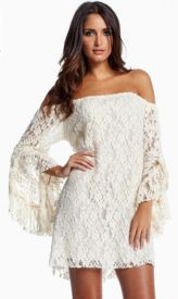 White Lace Western Dress $27.99
