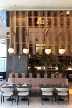 Restaurant Design Inspirations // Luxury and Glamorous Furniture – Interior Design Café Restaurant, Restaurant Seating, Restaurant Lighting, Restaurant Furniture, Restaurant Interior Design, Luxury Restaurant, Restaurant Banquette, Japanese Restaurant Interior, Interior Logo