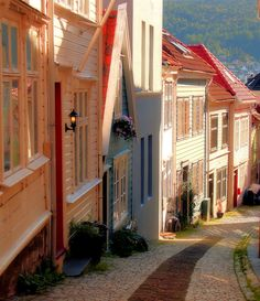 ~~Streets of Bergen, Norway  by Brian D.  Bumby on 500px