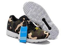 uk availability 94300 67ce6 TNJ3 Chaussures de running adidas zx flux camo vert olive, brun Boutique en  France. Chaussures DécontractéesChaussure RunningNoirVert ...