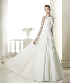 How stunning is this long sleeve lace wedding dress? San Patrick 2015 Bridal Collection
