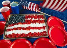 Patriotic Cake #memorialday #recipe