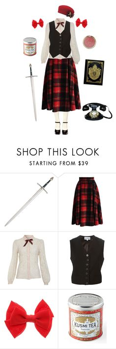 """""""Nyotalia Latvia-Hetalia"""" by conquistadorofsorts ❤ liked on Polyvore featuring Chicwish, Miss Selfridge, Ann Demeulemeester, Kusmi Tea and vintage"""