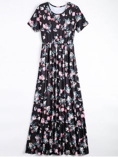 Round Collar Floral Print Dress (Click Here)