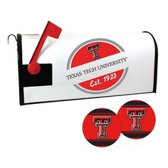 Texas Tech Red Raiders Magnetic Mailbox Cover & Decal Set, Multicolor