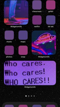 purple home screen